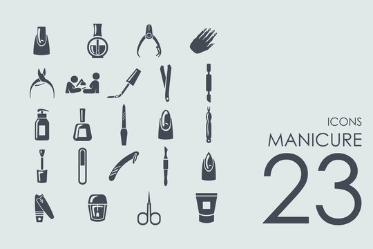 Set of manicure icons