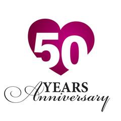 50 years anniversary white background