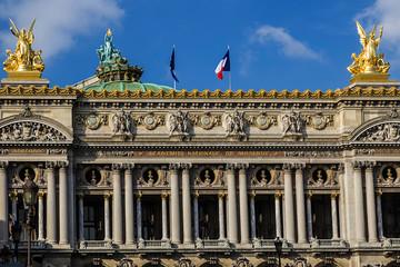 Architectural details of Opera National de Paris. Front Facade