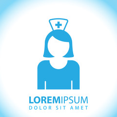 Nurse icon for web and mobile.