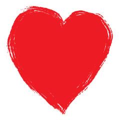 red brush heart