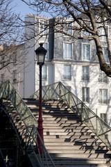 Bridge over Canal St Martin in Paris; France