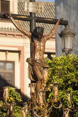 Jesús en la cruz, hermandad de los Javieres, semana santa de Sevilla