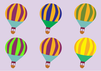 seamless travel pattern of balloons.