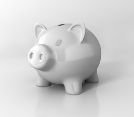 piggy bank. 3d illustration isolated