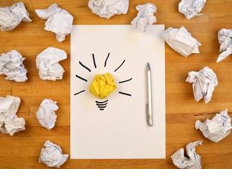 Ideas Concept Paperwork