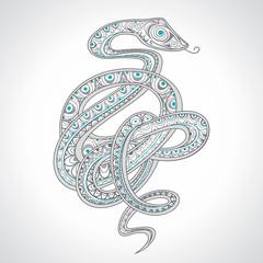 Decorative ornamental snake