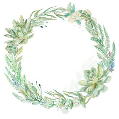 Wedding invitation wreath.