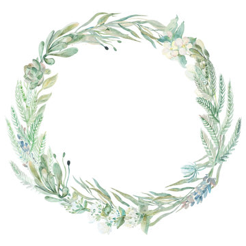 Wedding invitation wreath.