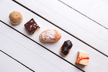 several varieties of cakes