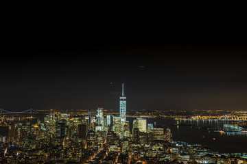 WTC night view from Empire State Building