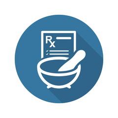 Pharmacy Medicine Icon. Flat Design.