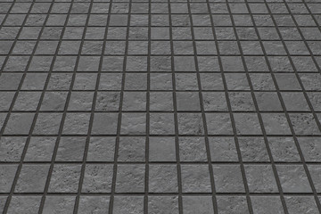 Black stone floor texture and seamless background