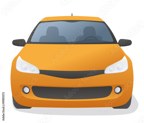 Generic Car Front View Vector Illustration Stock Image And Royalty