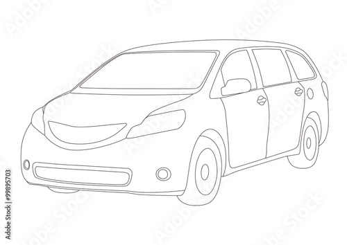 Line Drawing Van : Quot mini van line drawing illustration vector stock image