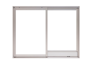 Metal window frame isolated on white background