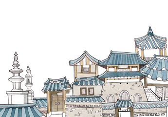 Korean traditional houses