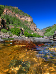 Wall Mural - Colorado River in Glenwood Canyon