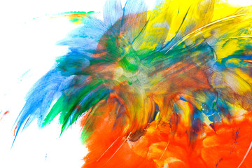 Abstraction. Children's drawing. Firework.