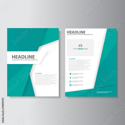 Populaire Abstract green brochure flyer leaflet presentation template flat  UE92