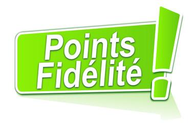 points fidélité sur étiquette verte