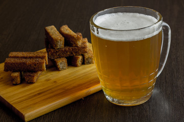 croutons with beer