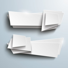 White Vector Banners Side 2 Options