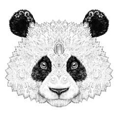 Tattoo Portrait panda bear
