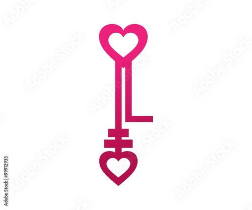 Key Love And Letter L Logo Symbol Stock Image And Royalty Free
