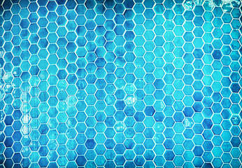 Blue mosaic swimming pool background