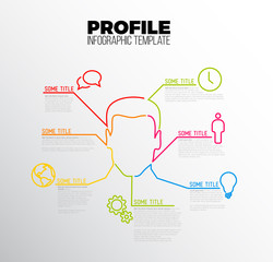 Vector Infographic profile / user template