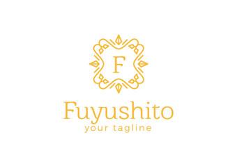 F Logo - Royal Crest Vintage Ornament