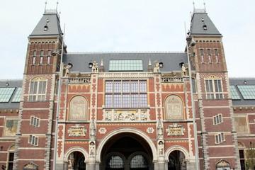 Fototapete - Rijksmueum in the city of Amsterdam