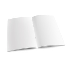 Blank open magazine template with staples.