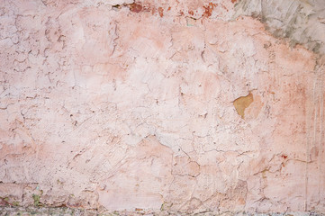 Canvas Prints Old dirty textured wall old plaster hue rose quartz