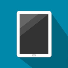White Tablet With Dark Touchscreen Vector