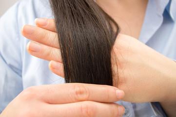 checking the health hair