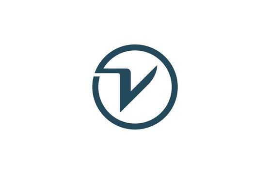 round letter v logo