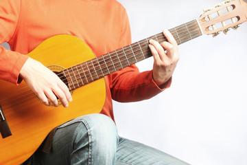 Acoustic guitar classical guitarist
