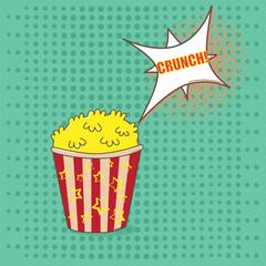 Pop art popcorn