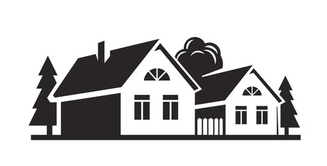 vector black house