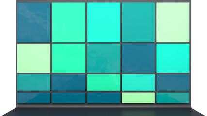 glossy panels
