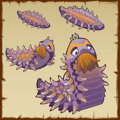 Strange underwater creation like a caterpillar