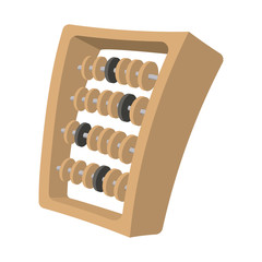 Abacus cartoon icon