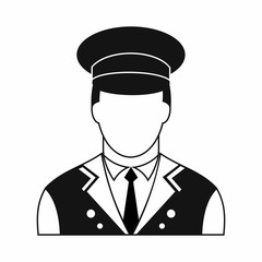 Doorman black simple icon