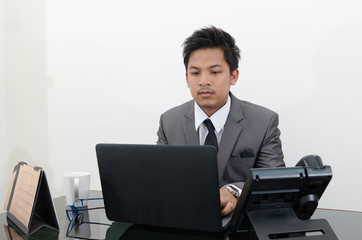Business man working in the office