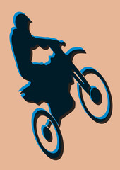 Motocross pop art