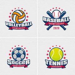 Set of Sport Badge Logo Design Templates