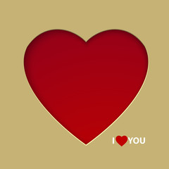 Valentine day postcard concept. Vector illustration