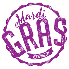 Mardi Gras stamp. EPS 10 vector